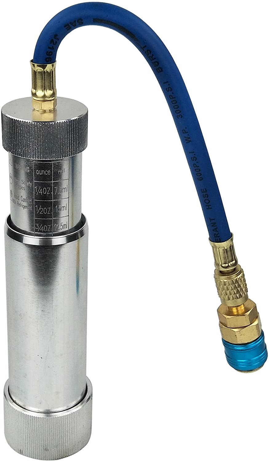 """Wisepick A/C AC Oil and Dye Injector with R-134a Snap Quick Coupler 1/4"""" SAE Hand Turn"""