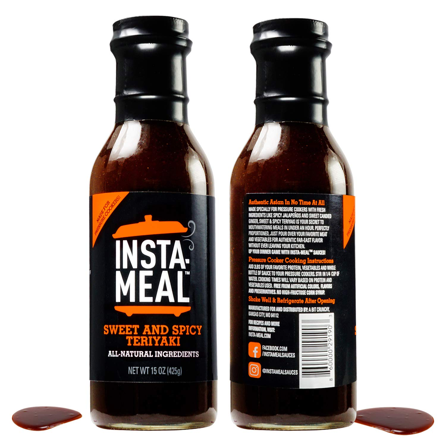 Insta-Meal Instant Pot Compatible Sauce, Sweet & Spicy Teriyaki Cooking Starter - Fast & Easy Recipes for Beginners & Beyond   Fresh and Healthy, No Prep Asian, One-Pot Pressure or Slow Cooker Meals