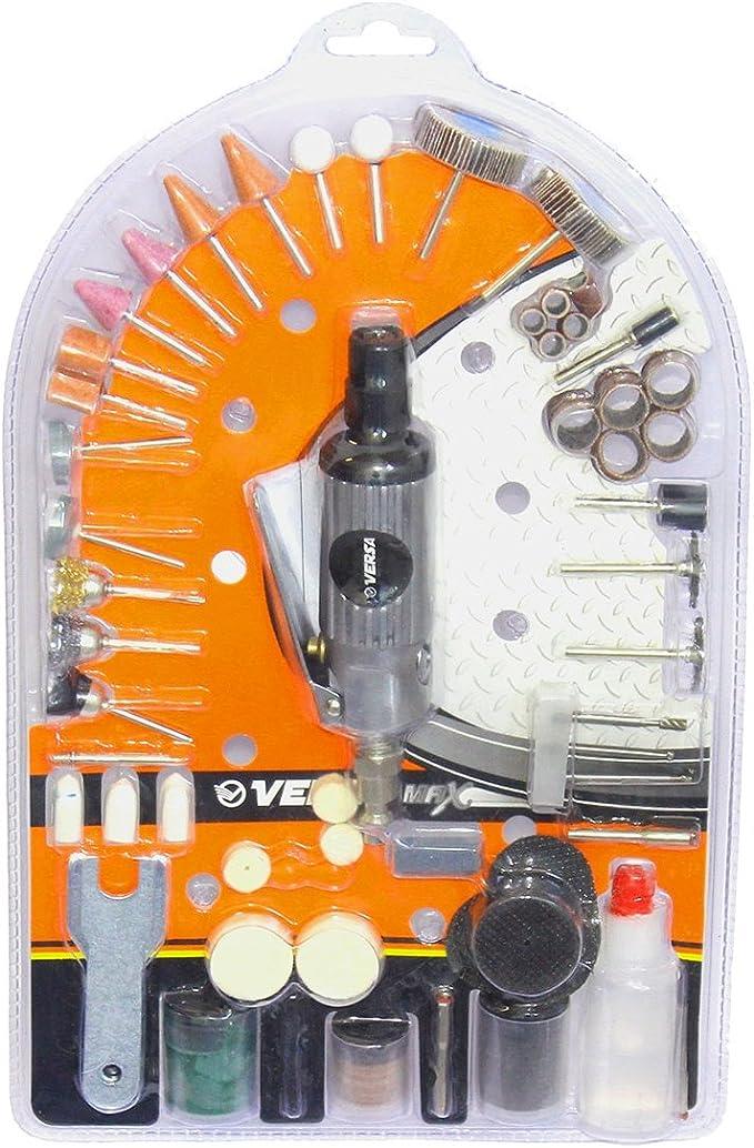 """Kit Mini Retífica Pneumática 1/4"""" com 134 Peças, Versa A404 por Versa"""