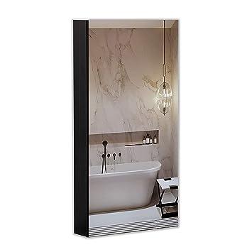 B C 15 X36 Aluminum Medicine Cabinet With Mirror Color Black Bathroom Mirror Cabinet With Adjustable Glass Shelves Storage Cabinet For Bathroom