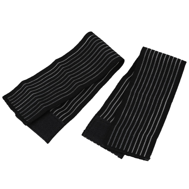 SODIAL(R) Elastic Support Bandage Brace Wrap Compression, black, Bracers 40 7.5cm