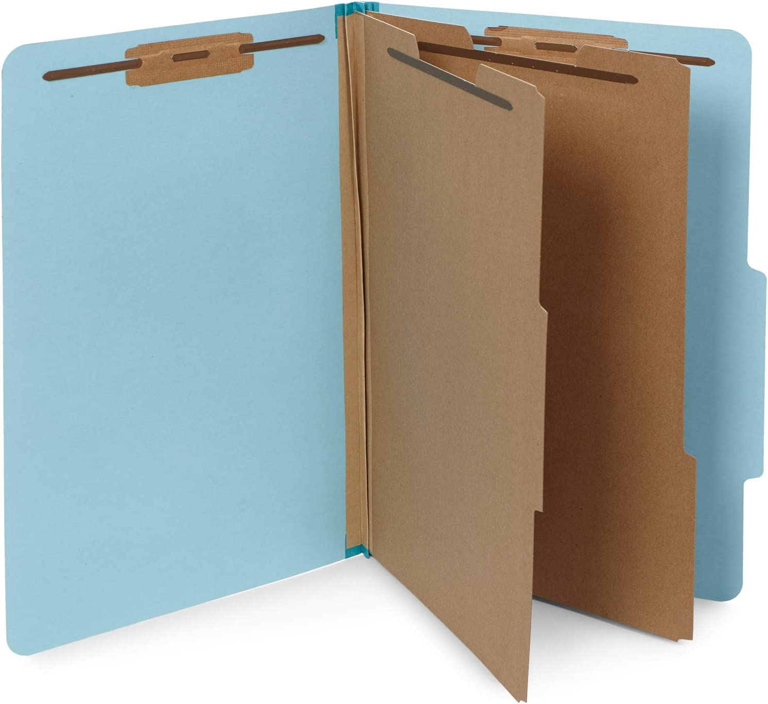 10 Blue Legal Size Classification Folders - 2 Divider 2 Inch Tyvek expansions - Durable 2 Prongs Designed to Organize Standard Law Client Files, Office Reports - Legal Size, 8 3/4 x 14 3/4, 10 Folders