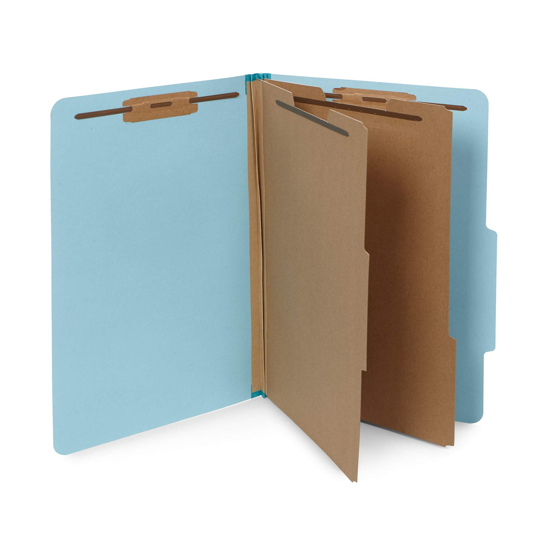 10 Blue Legal Size Classification Folders - 2 Divider 2 Inch Tyvek expansions - Durable 2 Prongs Designed to Organize Standard Law Client Files, Office Reports - Legal Size, 8 3/4 x 14 3/4, 10 Folders by Blue Summit Supplies