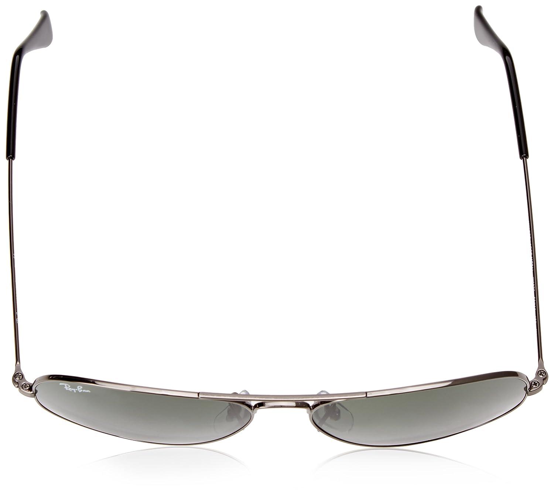 a4ef589cb Ray-Ban Aviator Large Metal, Gafas de Sol Unisex Adulto, Plateado (W0879  Gunmetal), 58: Amazon.es: Ropa y accesorios