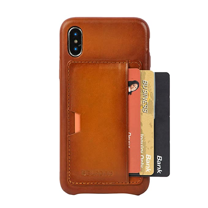 83fb34d6f70 Vegetable Tanned Patina Genuine Leather iPhone Xs/X Case with Dual Tone  Effect Protective Premium