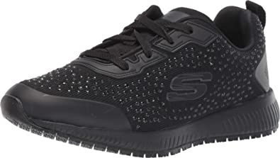 Itaca Gestionar Campo de minas  Amazon.com | Skechers Women's Lace Up Athletic Food Service Shoe | Walking