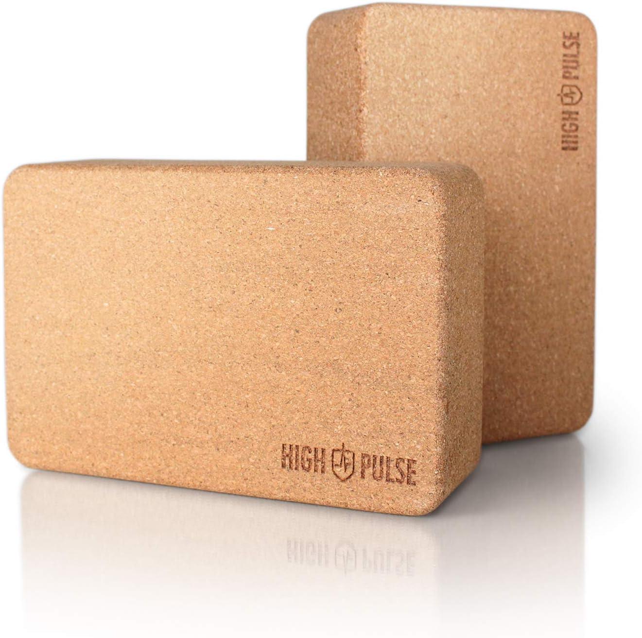 pilates entrenamiento 2 bloques de corcho natural para yoga gimnasio fitness proporciona apoyo de equilibrio.