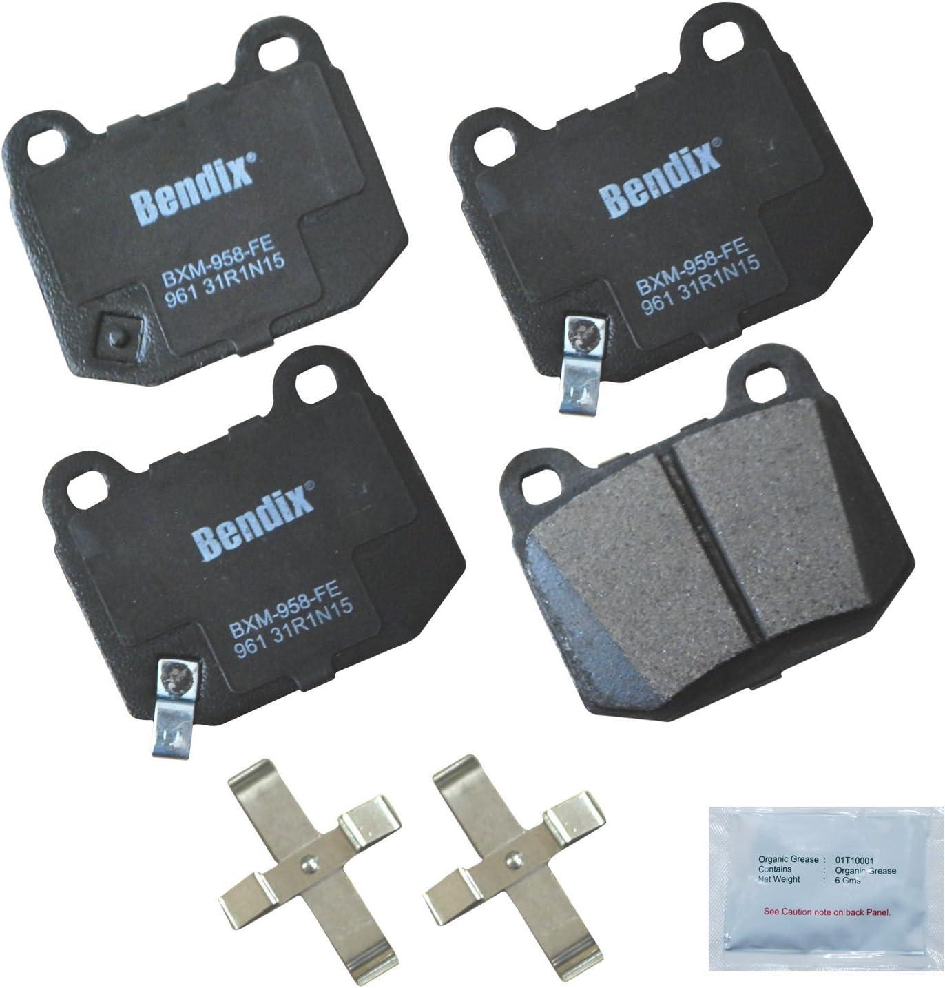 Bendix Premium Copper Free CFM1017 Semi-Metallic Brake Pad with Installation Hardware Rear