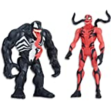 "MARVEL AVENGERS - 6"" Venom & Carnage Action Figure 2 Pack - Battle Playset inc Acc - Kids Super Hero Toys - Ages 4+"