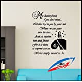 Wall Art Stickers Decors Quotes And Phrases Sally And Jack The Nightmare  Before Christmas T17 Part 93