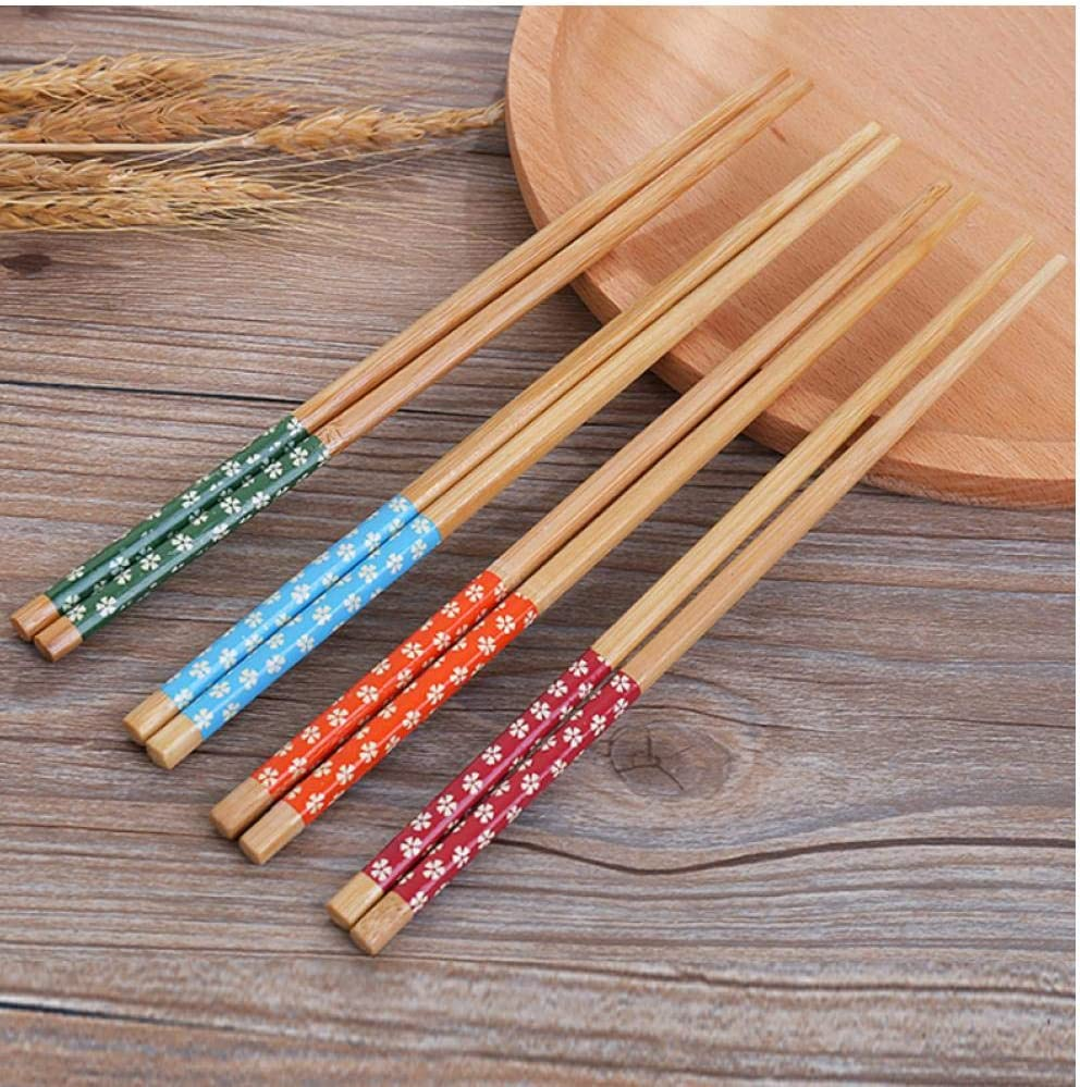 PiniceCore 5 pairs Reusable Chinese Classic wooden Chopsticks Traditional Vintage Handmade Natural Bamboo Chopsticks Sushi kitchen tools