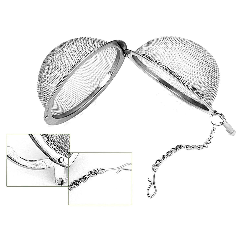 2/x da WA malla de acero inoxidable bola de t/é filtros de t/é colador de t/é filtros para t/é