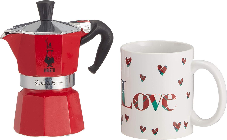 Bialetti Set de regalo: Moka Express 2 tazas + taza taza + mantel: Amazon.es: Hogar