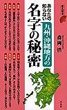 あなたの知らない九州地方・沖縄の名字の秘密 (歴史新書)