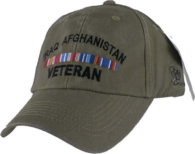 d22c61ee Image Unavailable. Image not available for. Color: Eagle Crest Iraq  Afghanistan Veteran Khaki Military Baseball Cap
