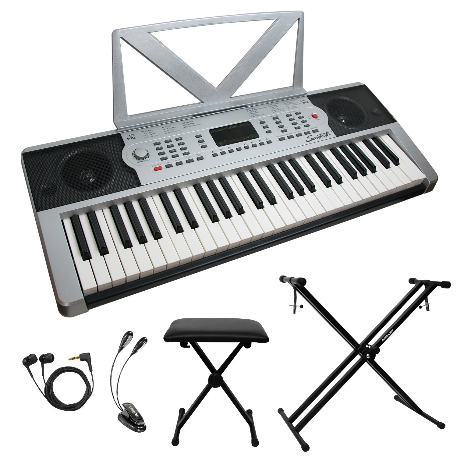 Sawtooth ST-PKB-54-KIT-1 54-Key Portable Keyboard with Accessories