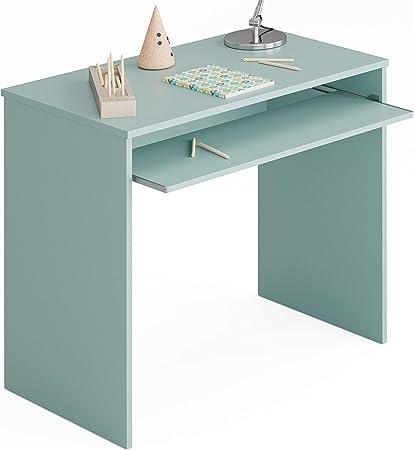 Miroytengo Pack Muebles Dormitorio Juvenil Completo Color Verde y Blanco con somieres 90x190 (Cama, Estante, Armario, Mesa y estanteria)