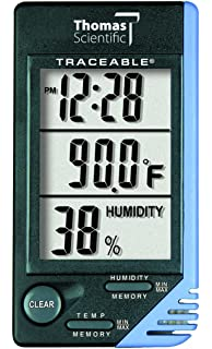 thomas traceable refrigerator freezer plus thermometer with 5ml