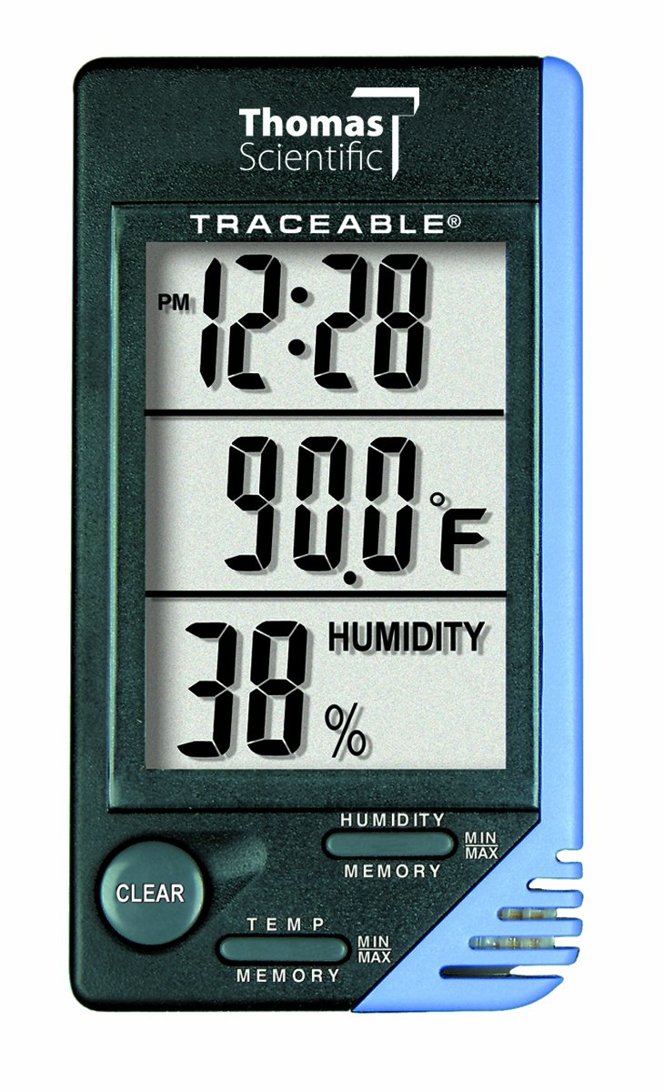 Thomas Traceable Thermometer/Clock, +/- 1 degree C Accuracy by Thomas