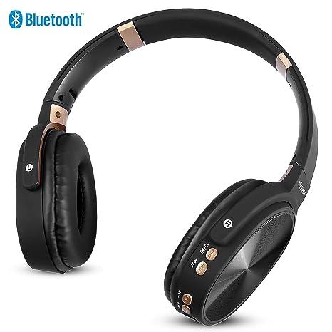 Auriculares Bluetooth Inalámbricos Diadema 4.2, NINE CUBE Plegable Hi-Fi estéreo, 3,