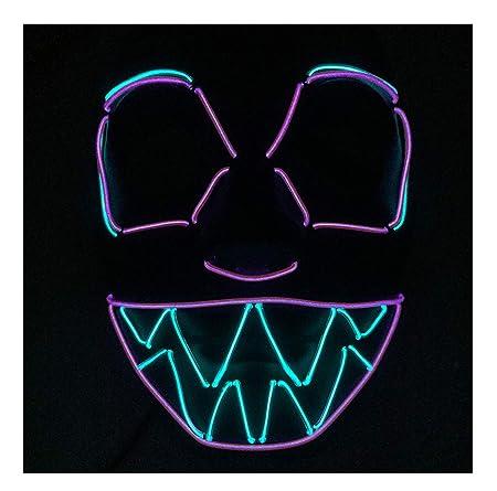 DMMASH Máscara De Halloween LED Luz hasta Fiesta Máscaras ...