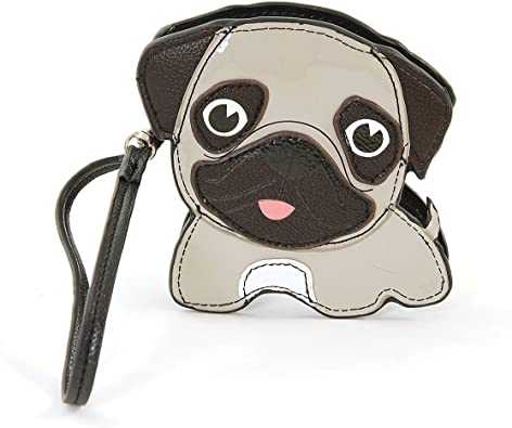 Womens Wallets Funny American Puppy Dog Pug Cat Leather Passport Wallet Coin Purse Girls Handbags
