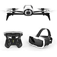 Parrot Bebop 2 FPV Drone Kit with Parrot CockpitGlasses and Parrot SkyController 2 White (Renewed)