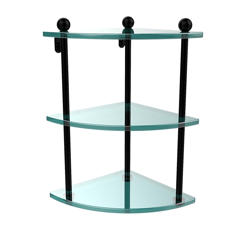 Allied Brass PR-6-PEW Triple Corner Glass Shelf Satin Nickel マットブラック マットブラック B003XRNGVM