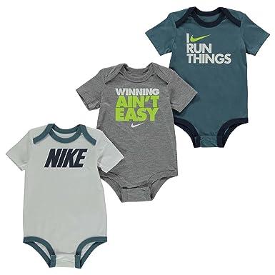 09ffaab37 Nike 3 Pack Bodysuit Set Baby Boys Romper Clothing Age 6-9 Months: Amazon.co .uk: Clothing