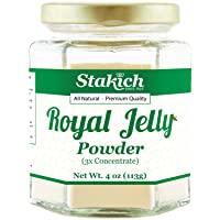 Stakich Fresh Royal Jelly Powder - 4 Ounce - 3X Concentrate - Freeze Dried, Pure...