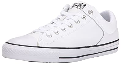 3711dc2b6ebc Converse Men s Street Leather Low Top Sneaker Black White