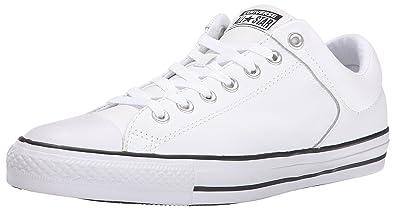 5097a5e77464 Converse Men s Street Leather Low Top Sneaker Black White