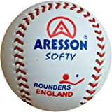 Aresson Softy Practice Leather Rounders Ball White
