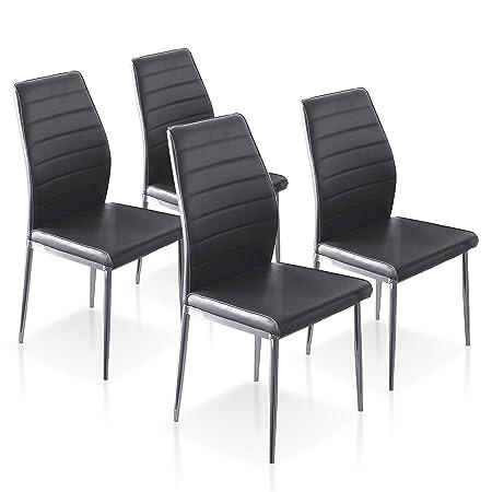 SuenosZzz - Pack sillas (x4) Cloud Color Negro, para Comedor ...