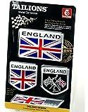 【ノーブランド品】イギリス 国旗 アルミ製 プレート ステッカー ラベル エンブレム 4枚 セット