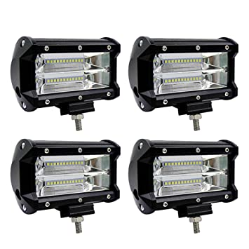 "Sungentle 4pcs Faro Trabajo Led, 5 "" 72W Super Bright y Potentes Focos Led"