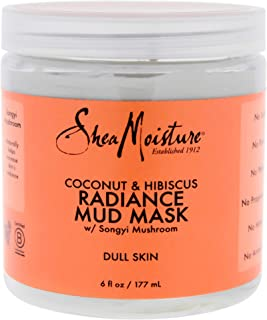 product image for Shea Moisture Coconut & Hibiscus Radiance Mud Mask for Unisex, Dull Skin, 6 Ounce