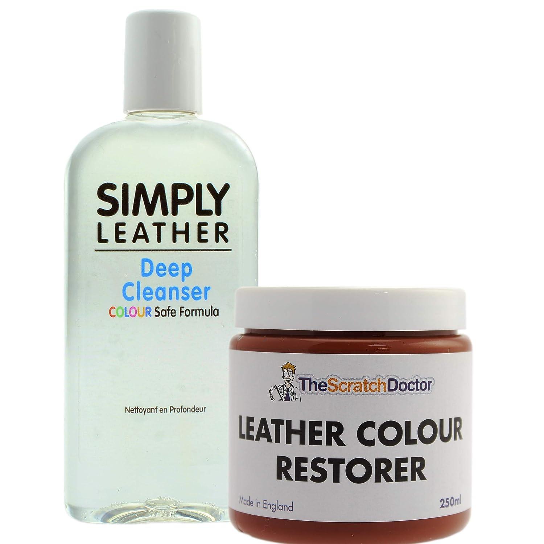 The Scratch Doctor Leather Cleaner & Colour Restorer Restoration Kit *Special Offer* For Sofa etc (Black)