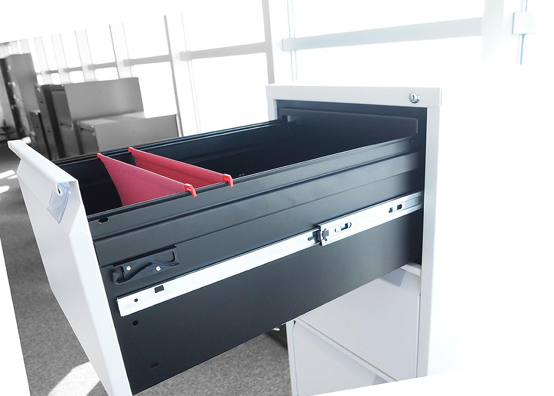 grupo julio diaz Archivadores metalicos con Llave de 3 cajones,Montado diseñado para Armario archivador de Carpetas para oficinas, Color Blanco: Amazon.es: ...