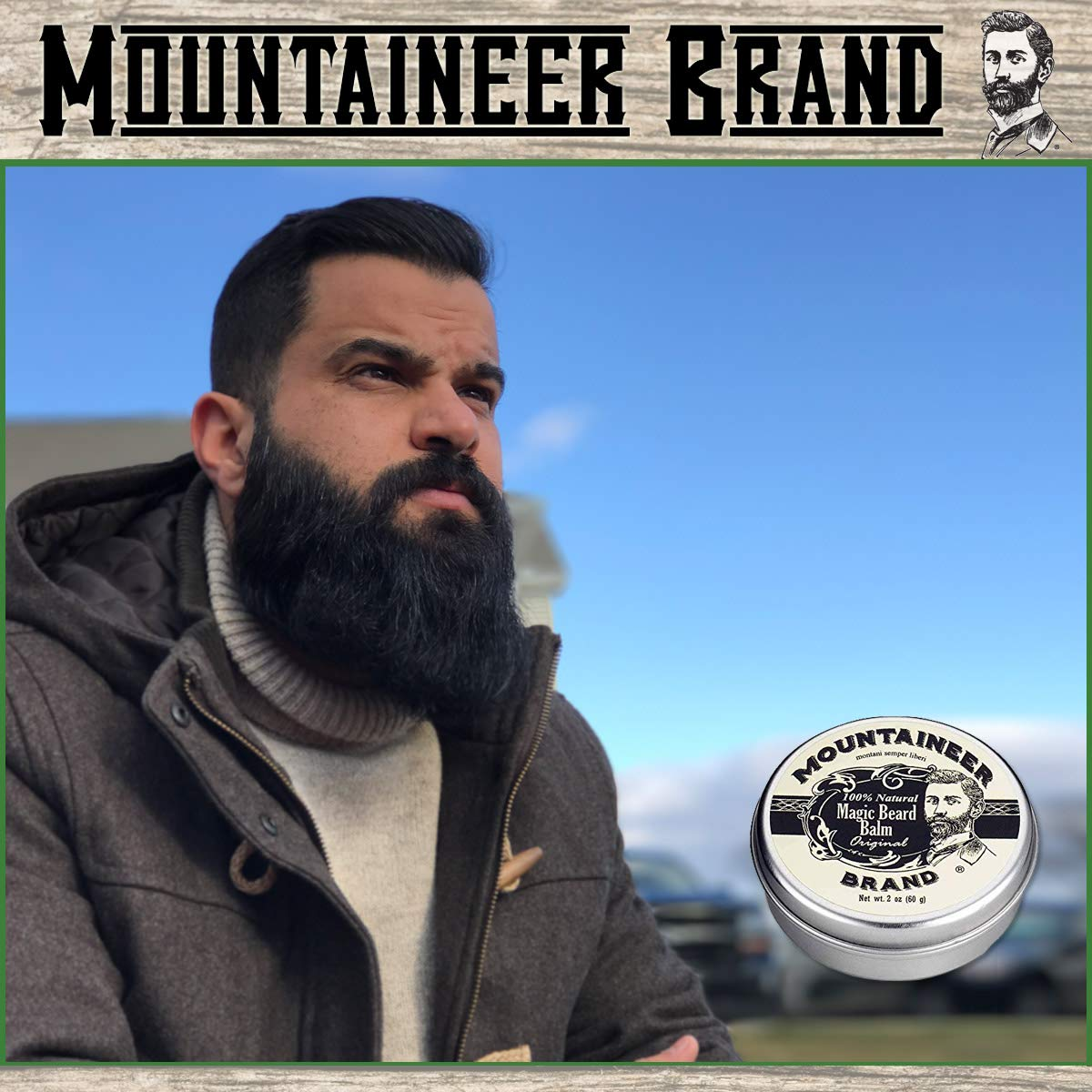Beard Grooming Care Kit for Men by Mountaineer Brand | Beard Oil (2oz),  Conditioning Balm (2oz),