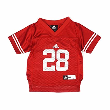 e946ac5dfcc adidas Wisconsin Badgers NCAA Red Official Home  28 Replica Football Jersey  for Infant (12M