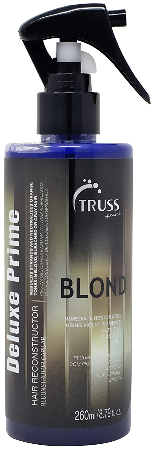 TRUSS Deluxe Prime Champagne Blond Hair Treatment - Color Refresh Treatment Spray For Grey Hair, Highlights, Ash Blonde Colors - Detangler, Repairs Dry, Damaged, Color Treated Hair
