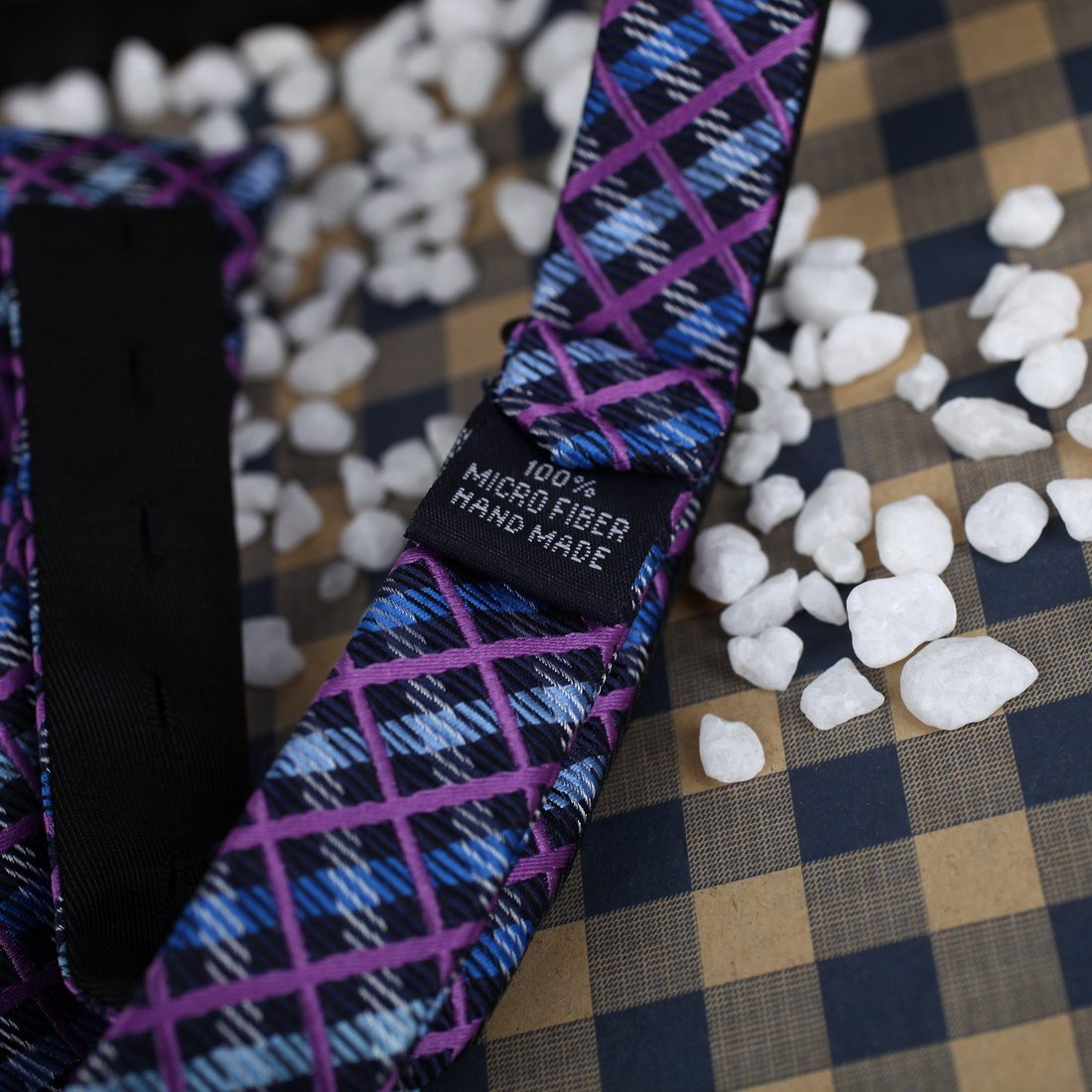 DBA7C04-06 Mens Checked Self-tied Bowtie Microfiber for Xmas Gift By Dan Smith