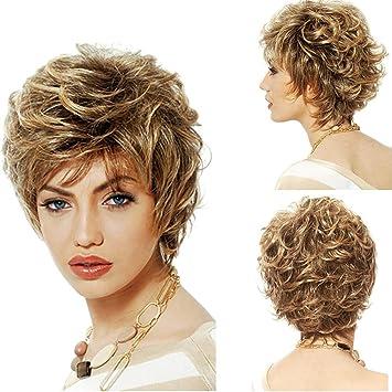 Frauen Kurze Perucke Haar Modische Frauen Flauschige Kurze Haare