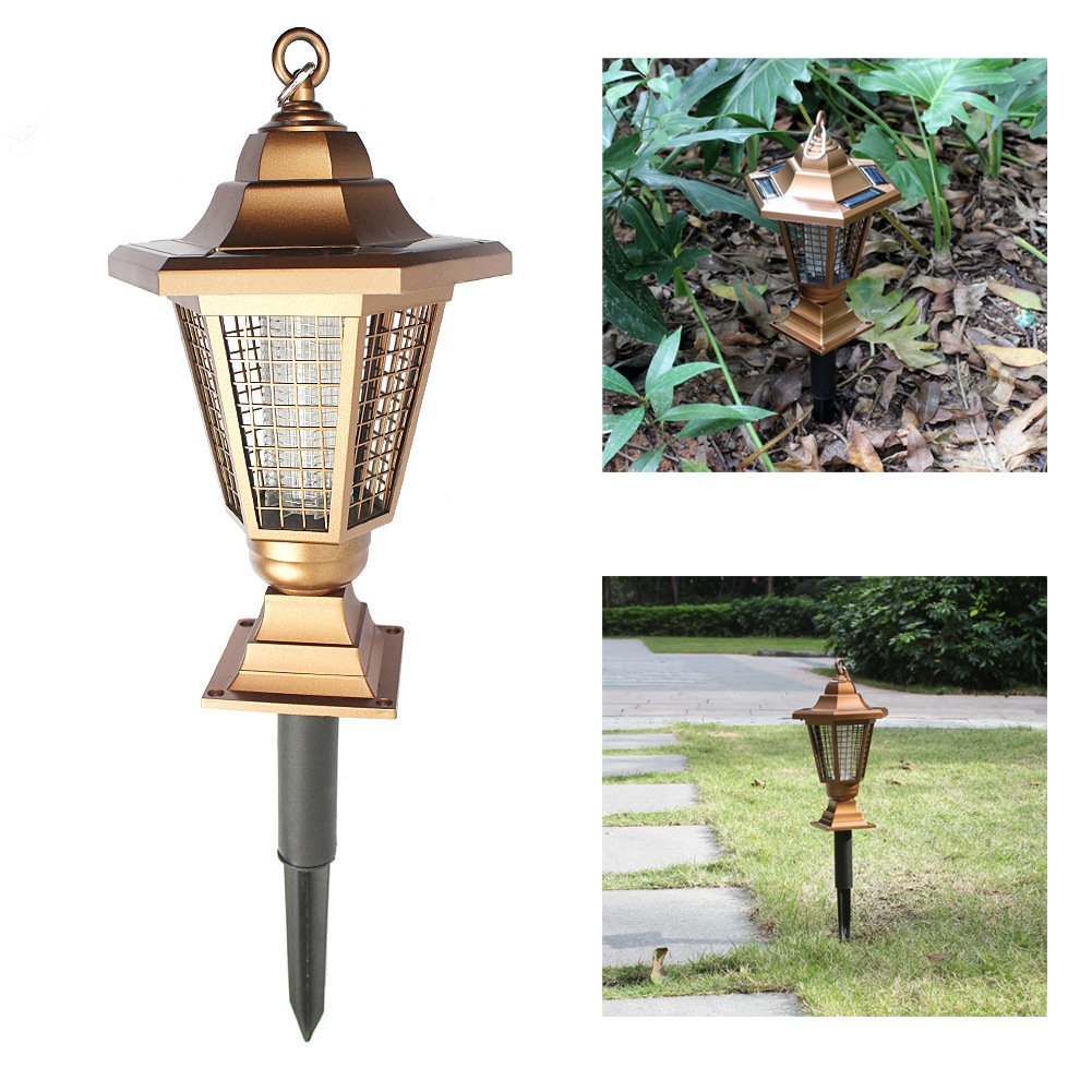 2 In 1 Solar Outdoor Lighting Solar Grass Lamp Waterproof Mosquito Killer Lamps Garden Light Lanterns Light LED Solar Garden Lamps