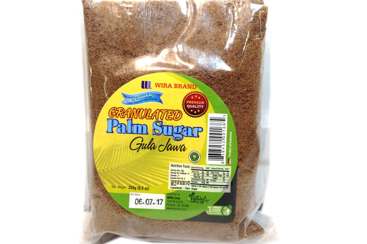 Gula Jawa (Granulated Palm Sugar) - 8.8oz (Pack of 1)