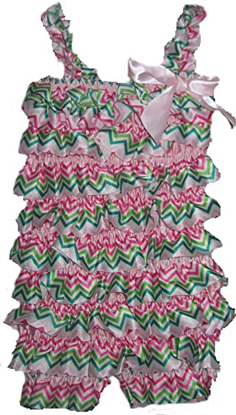 448d6ab1cad4 Image Unavailable. Image not available for. Color  Jojo s Boutique Satin  Chevron Petti Romper 2 3 ...