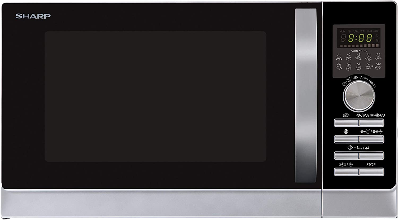 Sharp R843INW - Microondas, 3 en 1, 900 W, Plata, 51.3 x 30.62 x ...