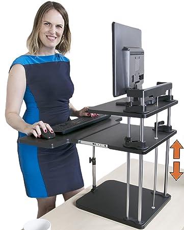 Amazoncom Standing Desk UpTrak Dual Level SitStand Desk