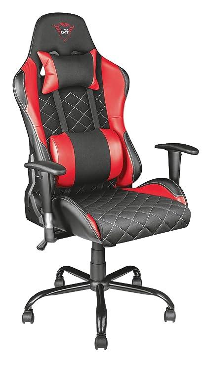 Stuhlergonomisch 707r Gxt Gaming Höhenverstellbare ArmlehnenRot Trust Resto Mit mw8Nn0
